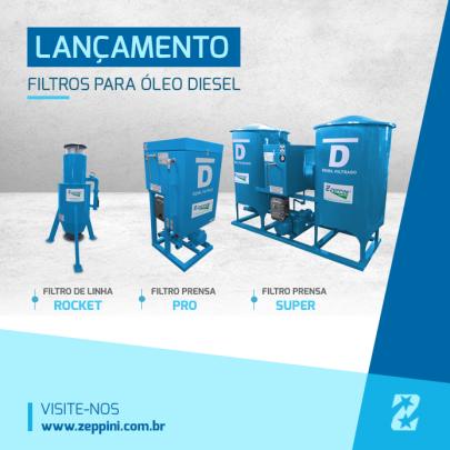 Filtros para oleo diesel Zeppini Ecoflex