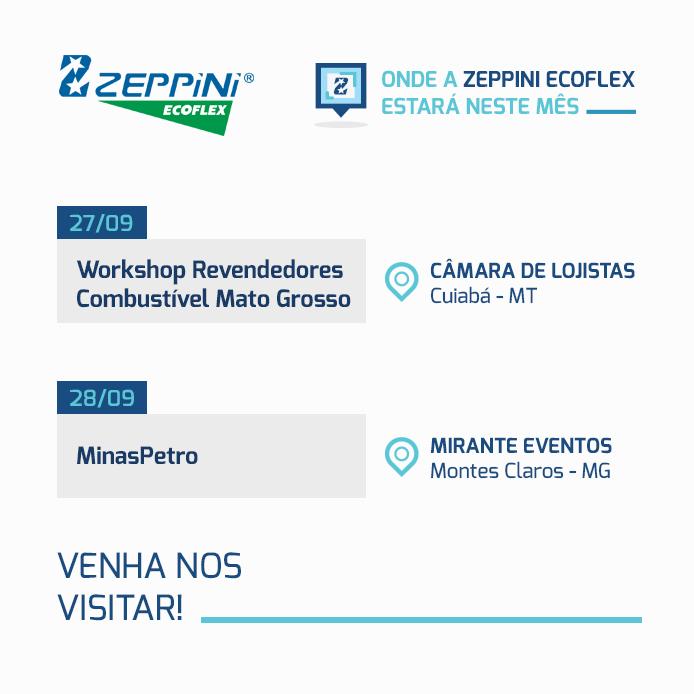 Onde a Zeppini Ecoflex estará em Setembro